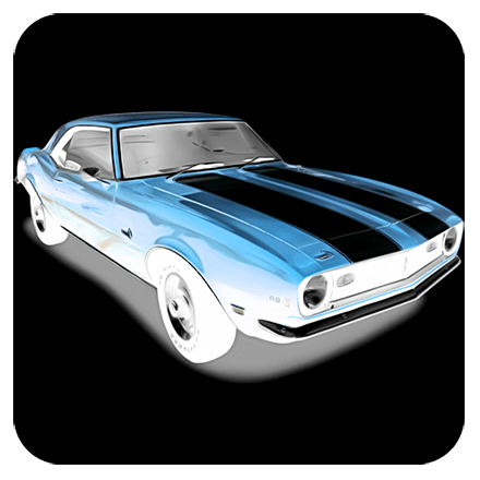 Blue Muscle Car