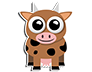 Cute Cow Sticker