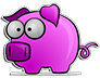 Cute Pink Pig Sticker